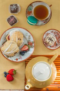Hosting an afternoon tea party is easy! All you need are some tea and treats!