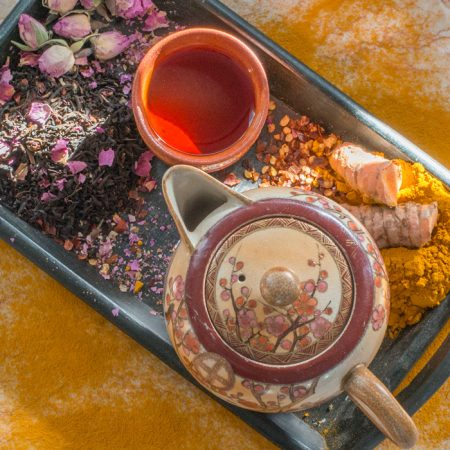 Shop Online - Organic Currant Turmeric Rose Black Tea, USDA Certified Organic Bulk Tea - Available in Wholesale