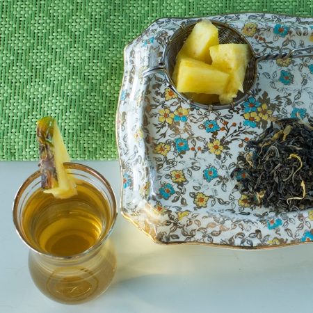 Certified Organic Pineapple Jasmine Green Tea, Divinitea. Available in bulk. Free shipping.