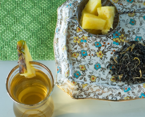 Shop Online -Certified Organic Pineapple Jasmine Green Tea, Divinitea. Available in bulk & Wholesale.