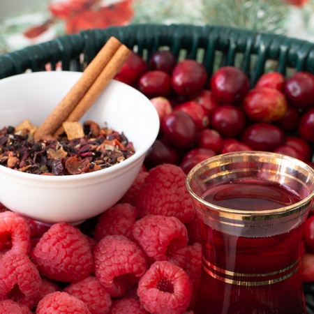 Shop Online - USDA Certified Organic Very Berry Christmas Tisane - Available in Bulk and Wholesale
