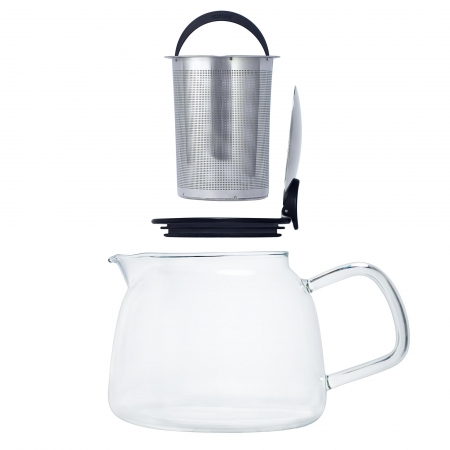 Bell teapot with stainless steel infuser