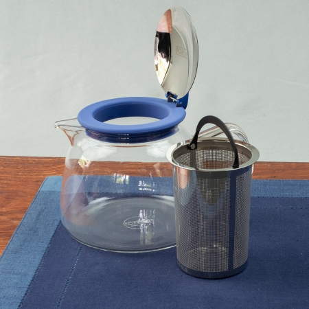 FORLIFE Bell Glass Teapot - 24oz. Borosilicate glass with stainless steel infuser