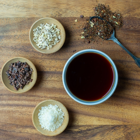 Organic Adaptogen Tea with Ashwagandha and Tulsi.