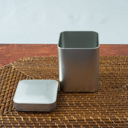Square Stainless Steel Tea Tin for Loose Leaf Tea
