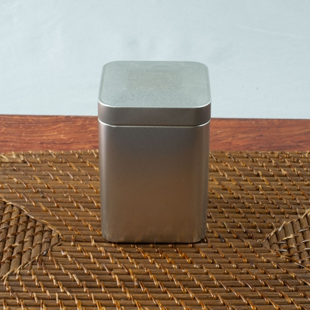 Square Stainless Steel Tea Tin