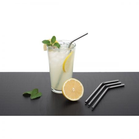 Stainless steel drinking straws - 4 pack