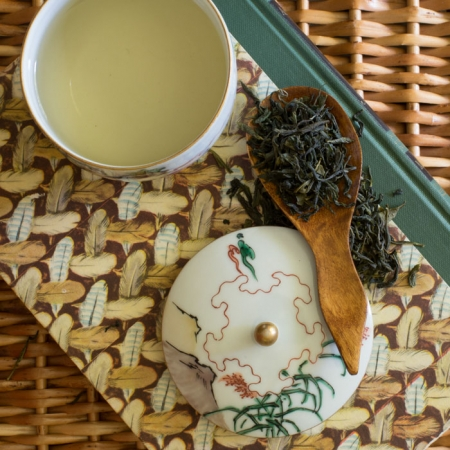 Buy Online - USDA Certified Organic Dao Ren Green Tea. Balanced and fresh with a lingering sweetness. Available in Bulk.