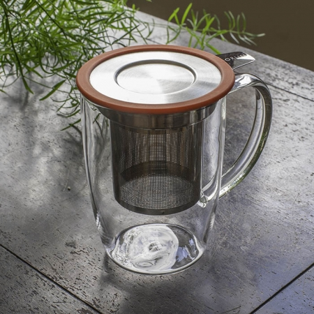 Tall Tea Mug with Infuser and Lid - By ForLIfe