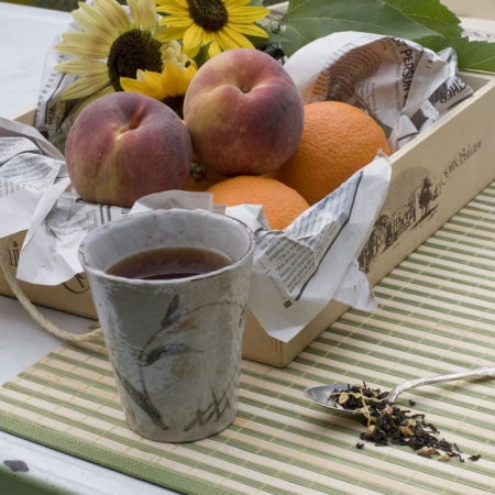 Organic Sunshine Peach Black Tea -