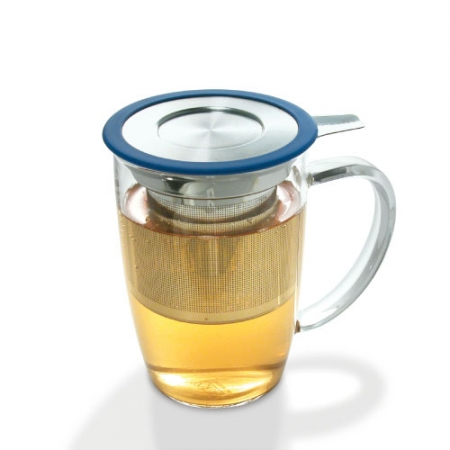 Tall Tea Mug with Infuser and Lid - Blue Color - By ForLIfe