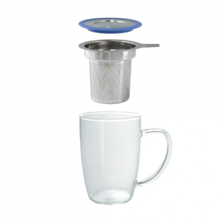 Tall Tea Mug with Infuser and Lid - Parts Photo - By ForLIfe